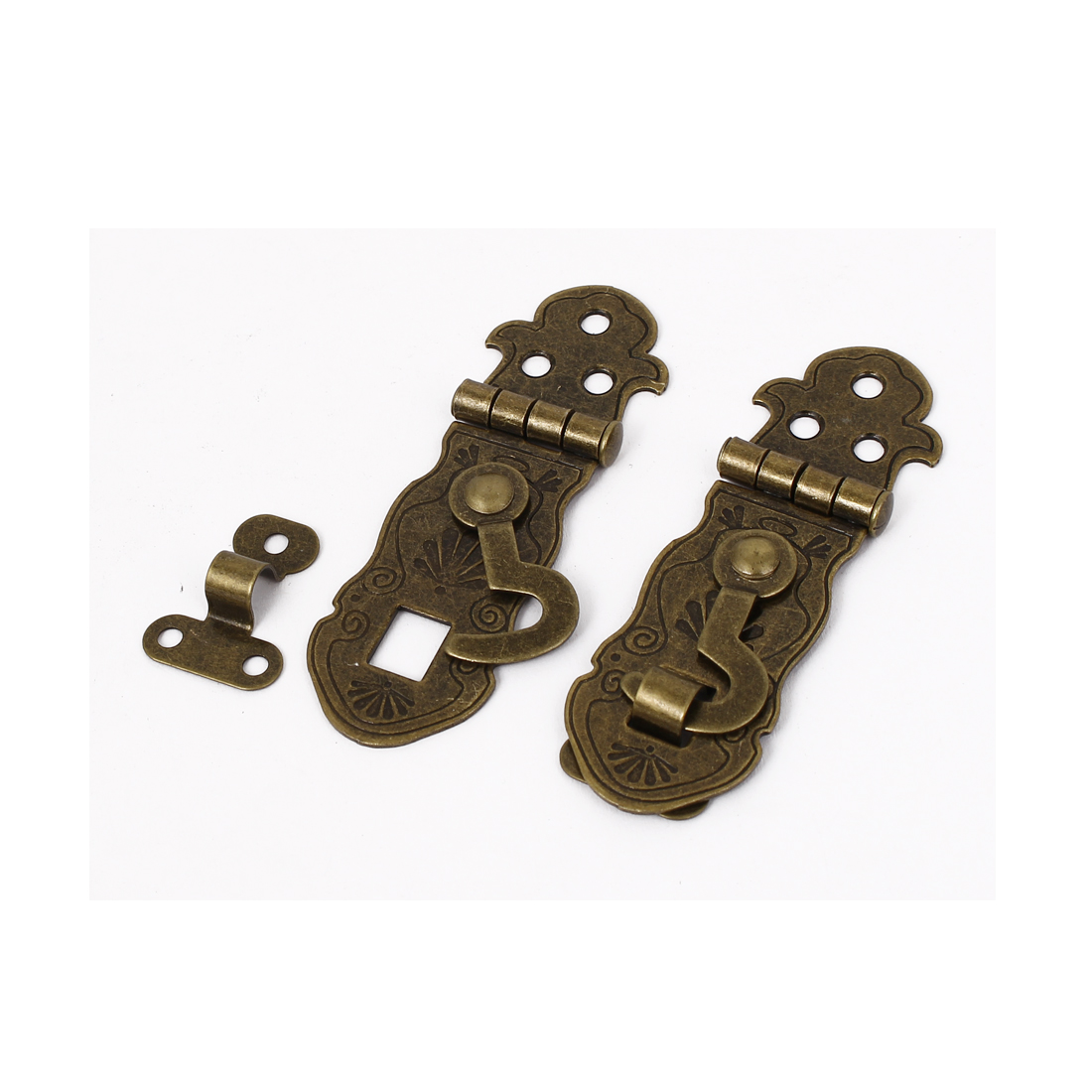 Antique Style Suitcase Lock Chest Box Clasp Hasp Latch Bronze Tone 2pcs