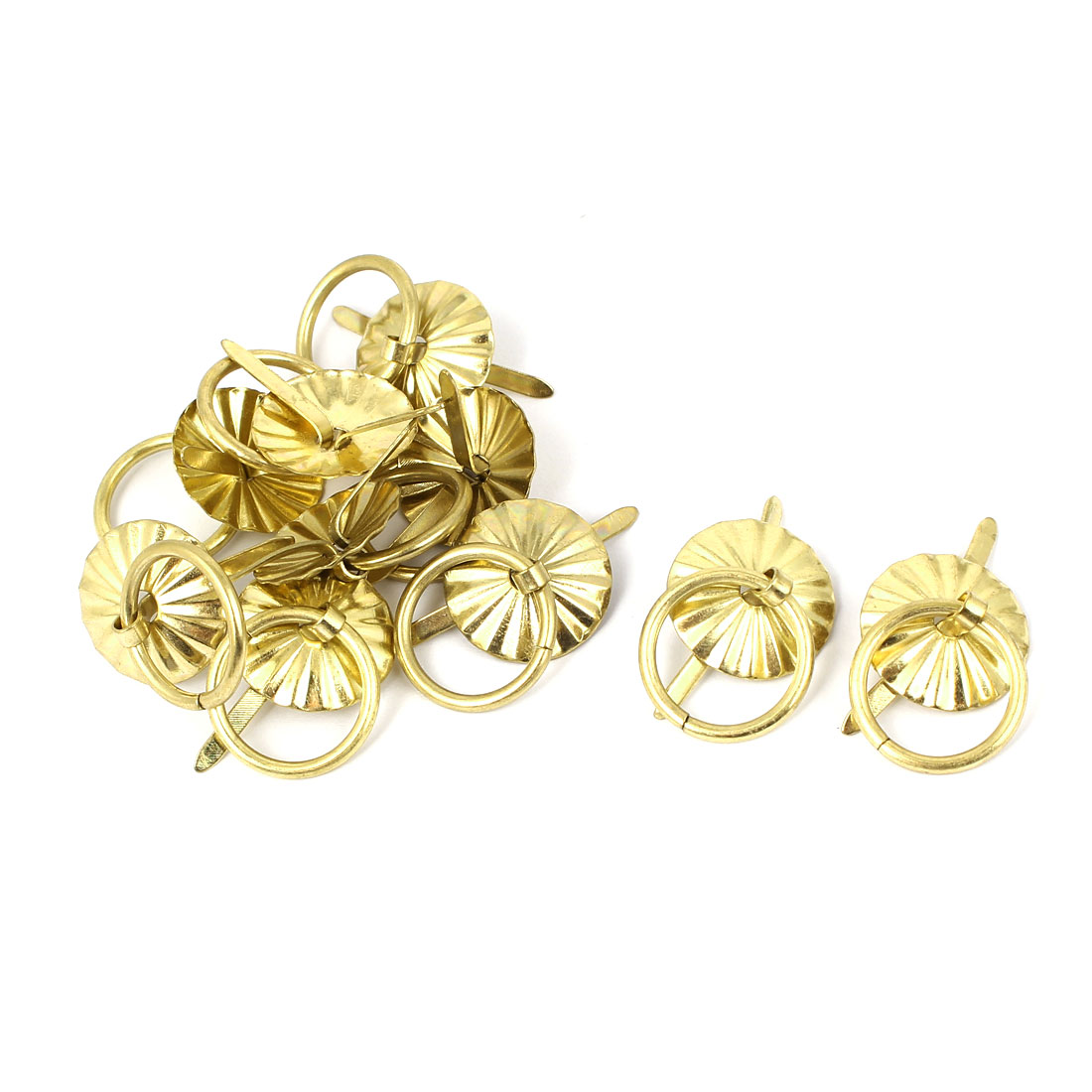 Jewelry Cabinet Wooden Box Drawer Metal Pull Handles Yellow 10 Pcs