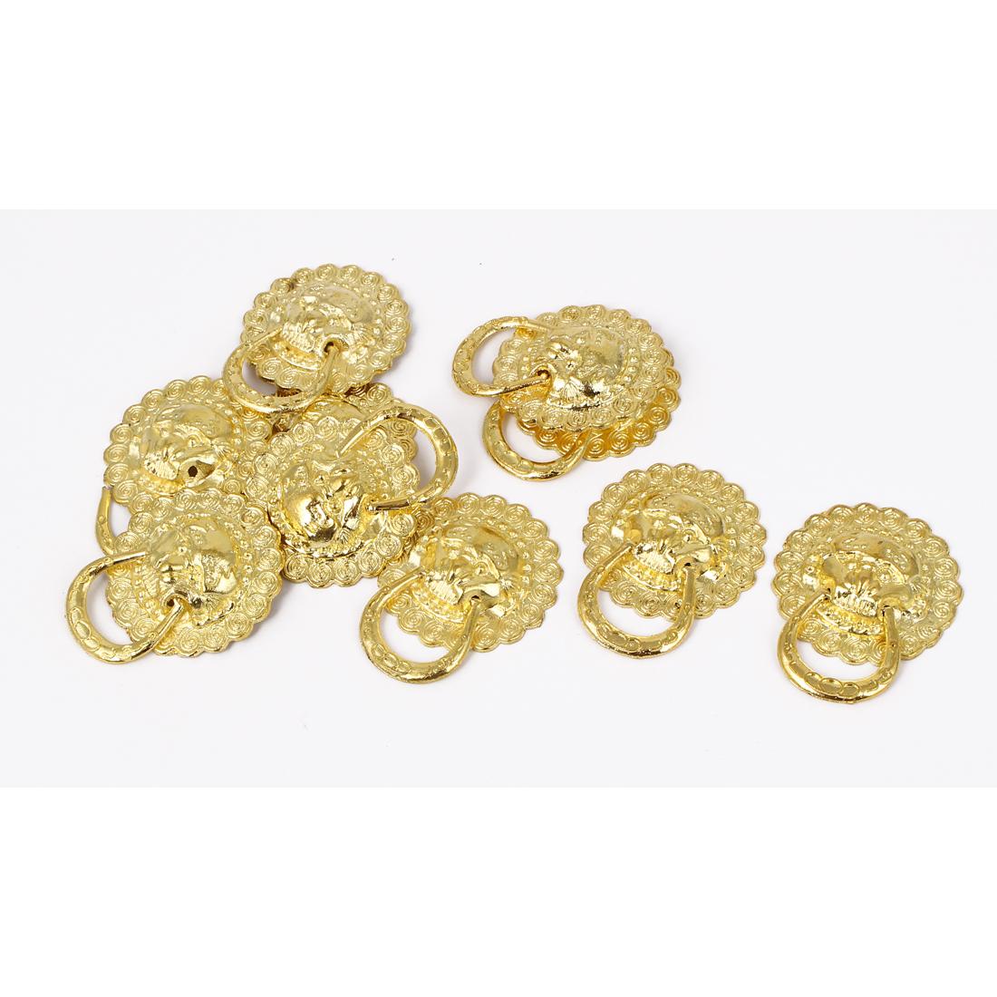 L362E5 Jewellery Box Showcase Lion Head Design Pull Handle Ring Knob 10pcs