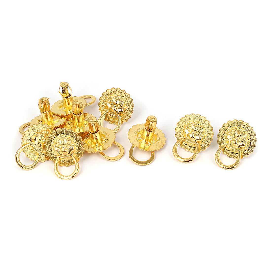 Jewellery Box Showcase Lion Head Design Pull Handle Ring Knob 10pcs