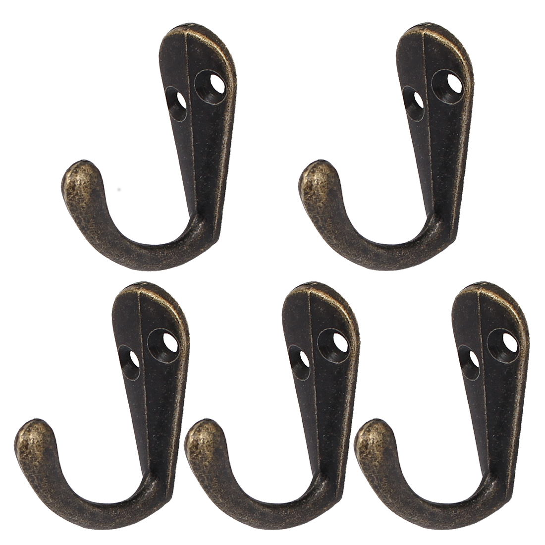 Bedroom 34mm Long Clothes Hat Towel Hanging Wall Mounted Single Hook Hanger 5pcs