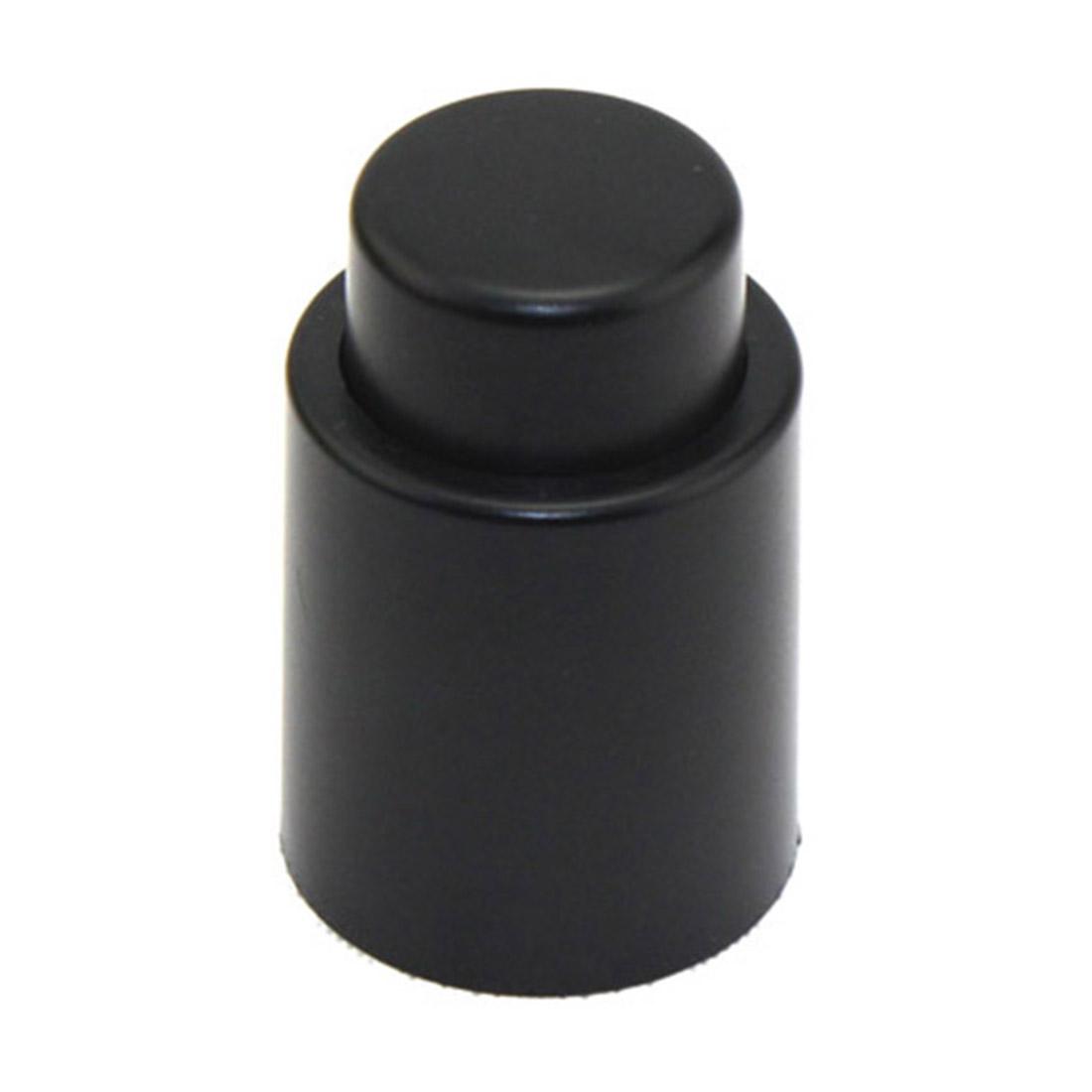 Vacuum Sealed Wine Champagne Bottle Stopper Cap Cork Black