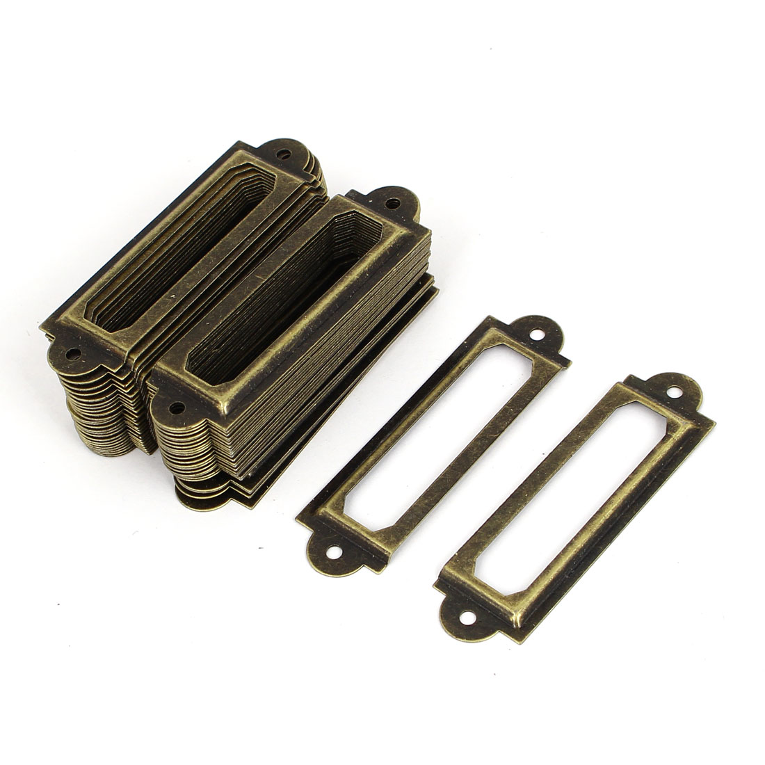 60mm Long Office Drawer Cabinet Label Pull Holder Frame 50pcs