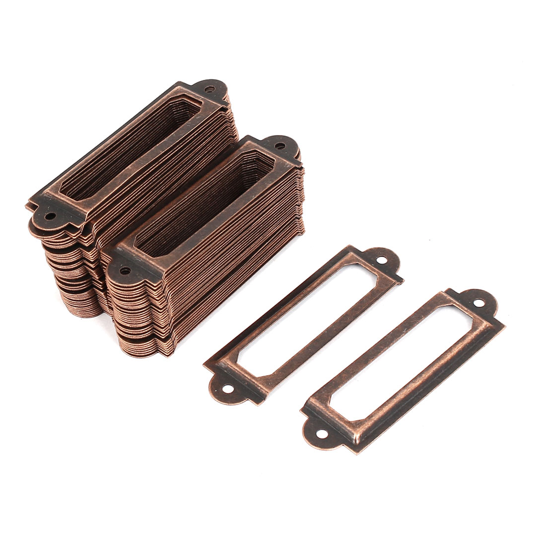 Office Drawer Cabinet Antique Style Label Pull Holder Frame 100pcs