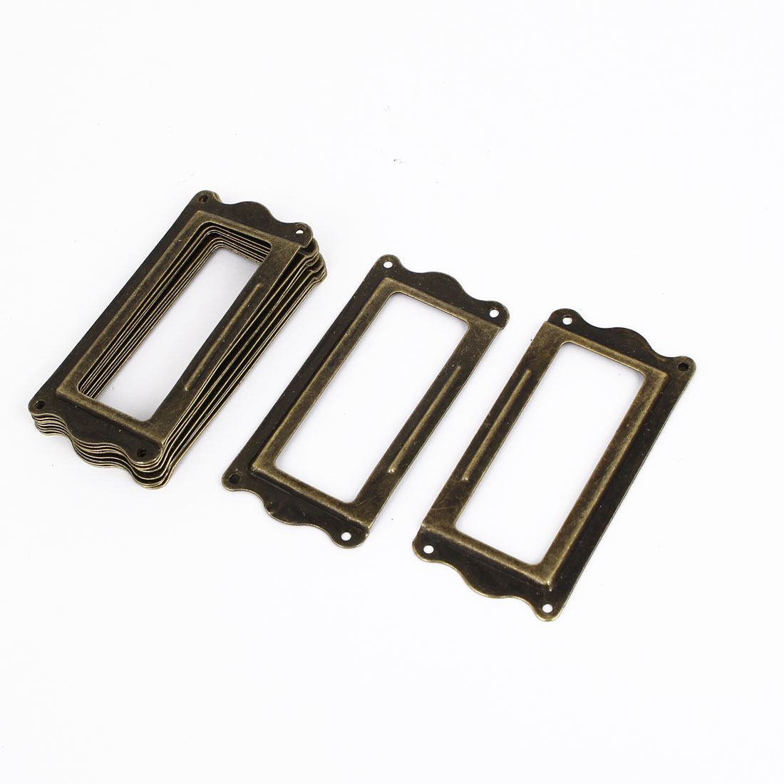64mmx31mm Office Drawer Cabinet Label Pull Holder Frame 10pcs