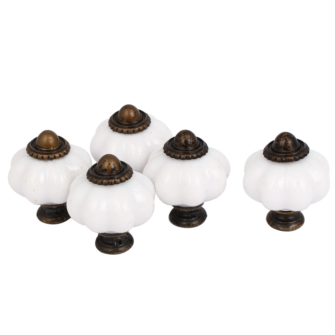 Door Drawer Cupboard Kitchen Vintage Pull Knobs Handle 5pcs