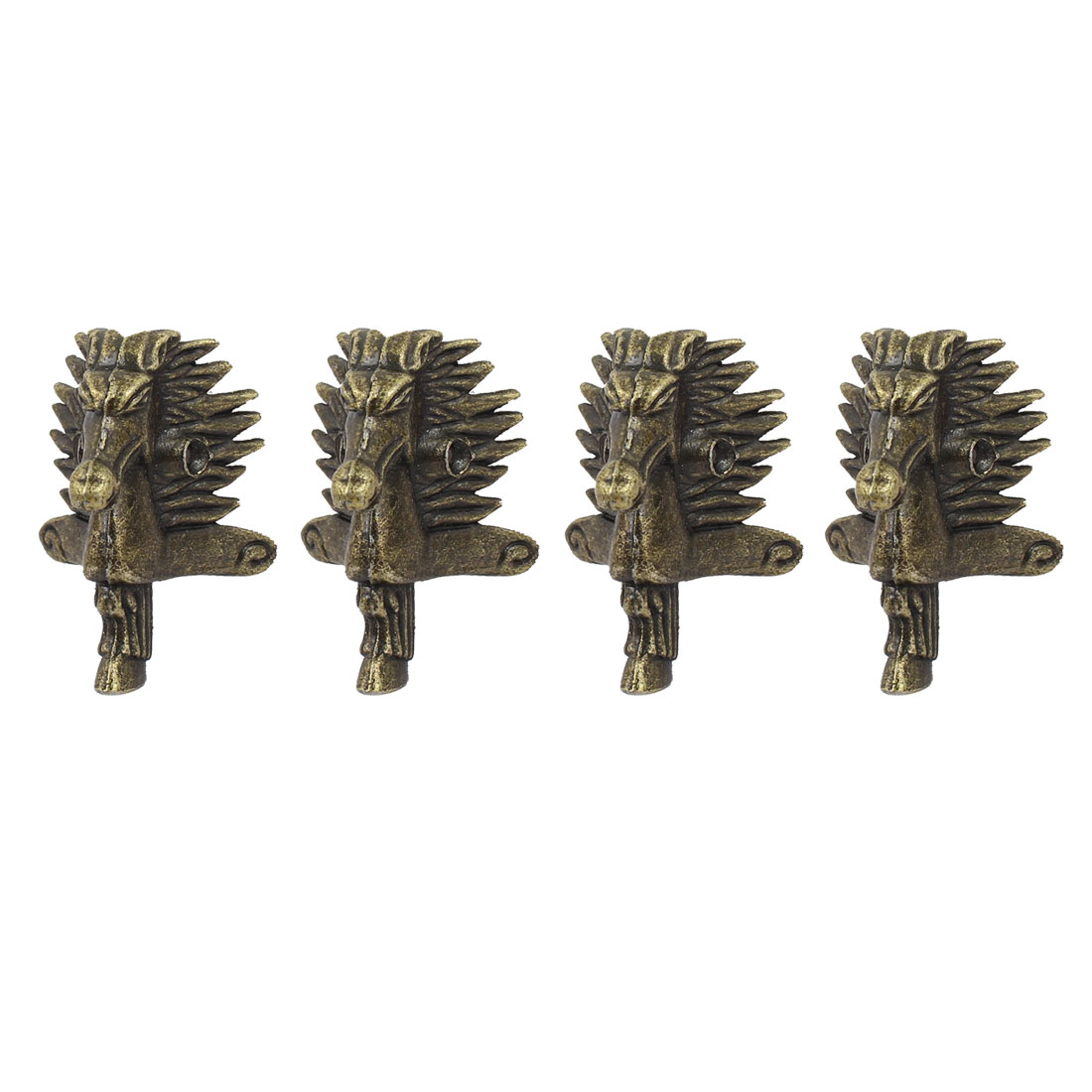 Metal Decorative Antique Box Corner Protector Guard Bronze Tone 4pcs