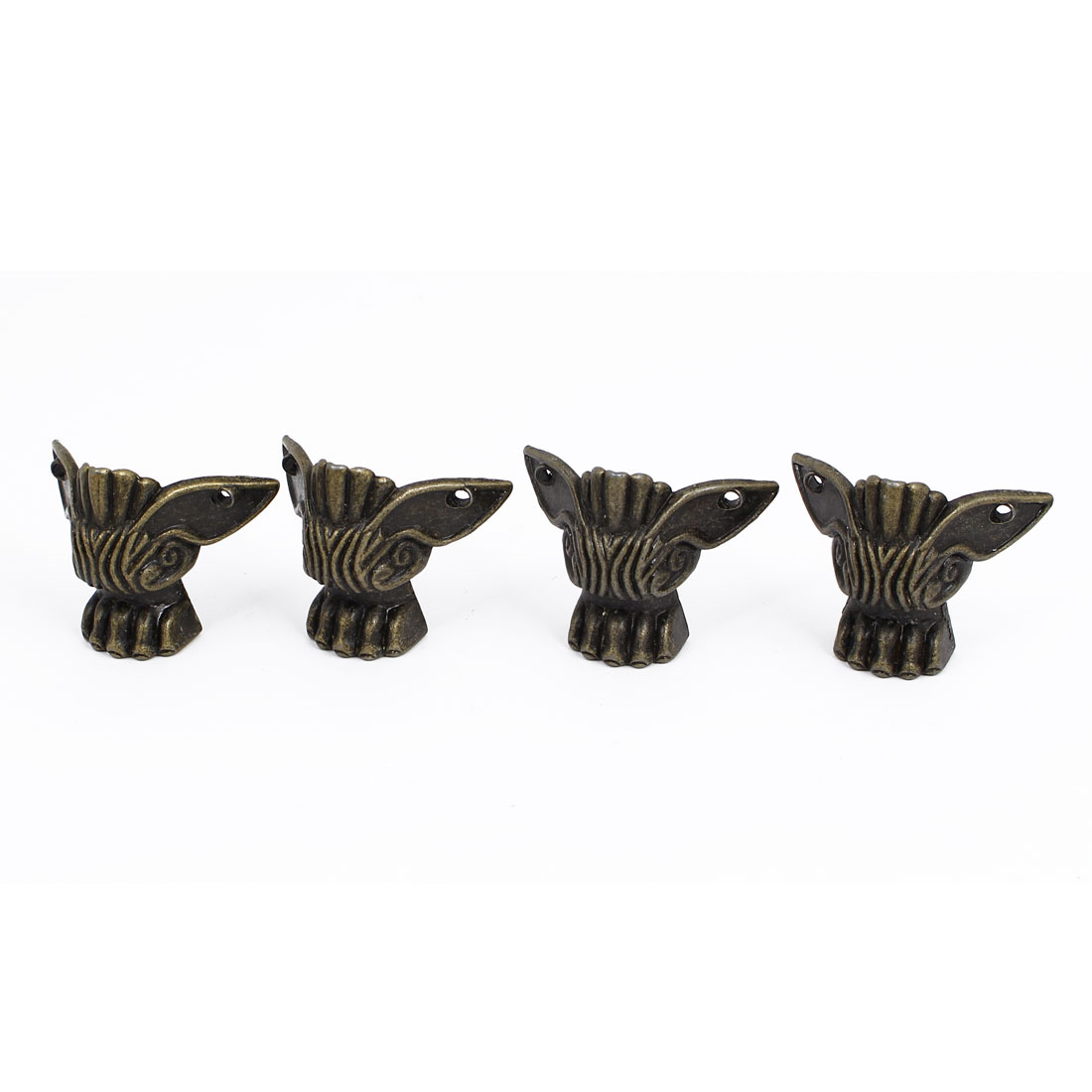 Metal Decorative Box Corner Protector Guard Bronze Tone 4pcs