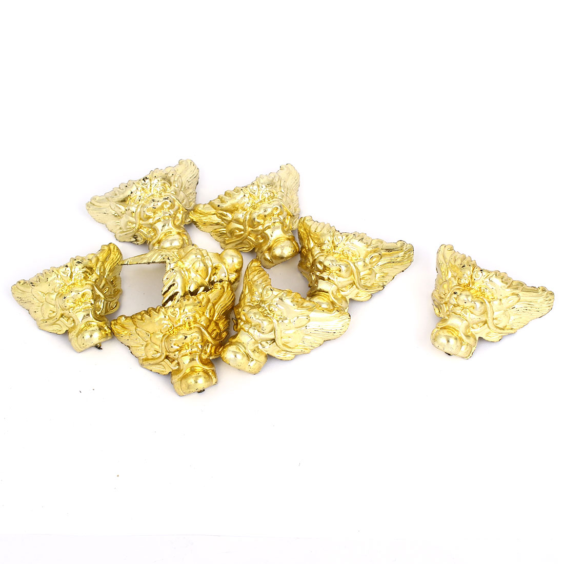 40mmx40mm Decorative Jewelry Gift Box Corner Protector Guard Gold Tone 8pcs