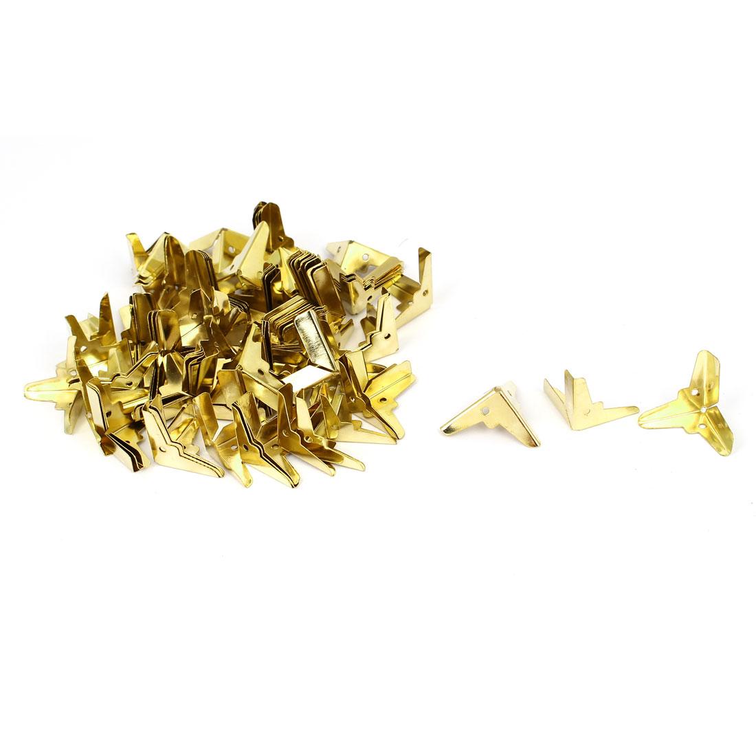 Decorative Antique Jewelry Gift Box Corner Protector Guard Gold Tone 100pcs