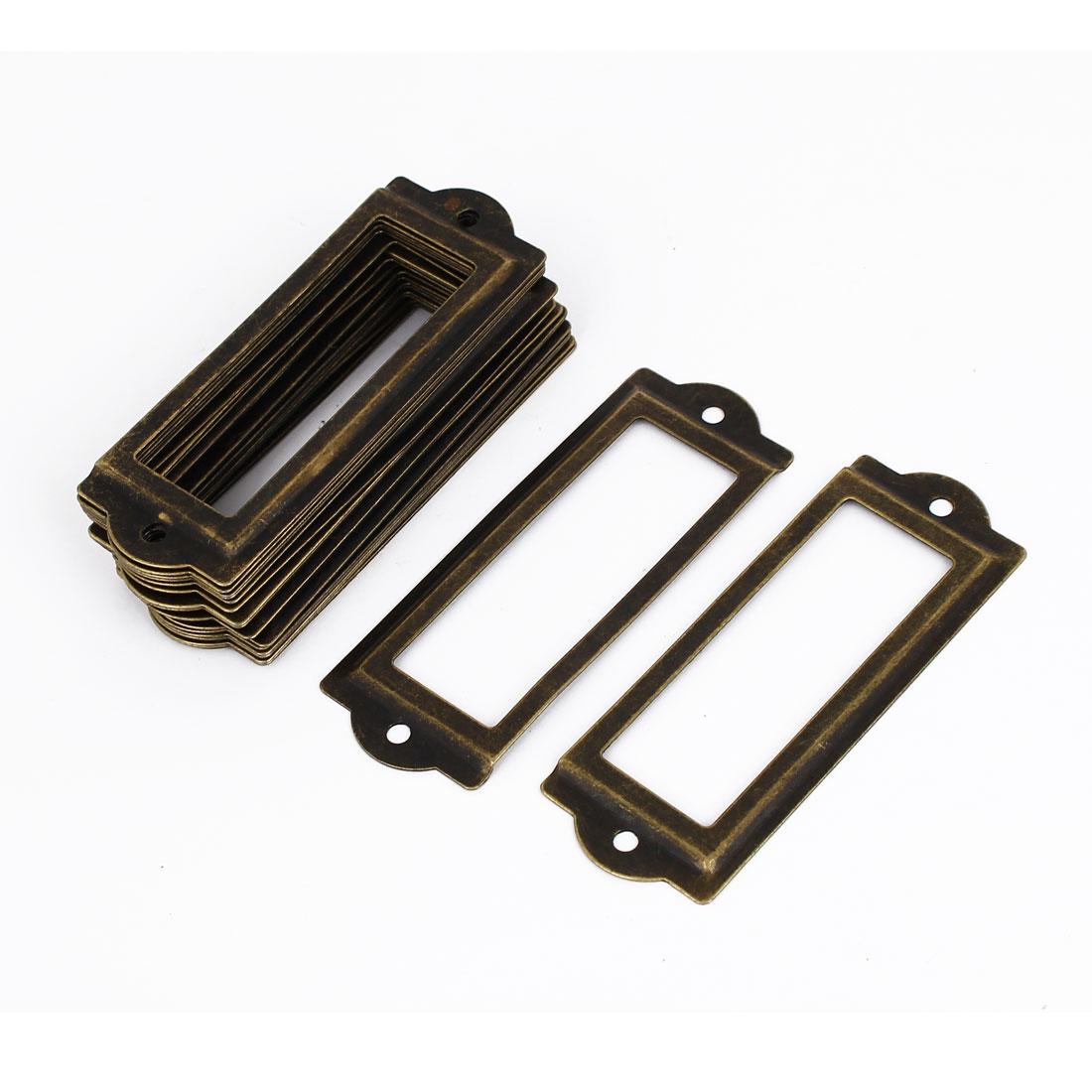 Office Drawer Cabinet Metal Label Pull Holder Frame 20pcs w Screws