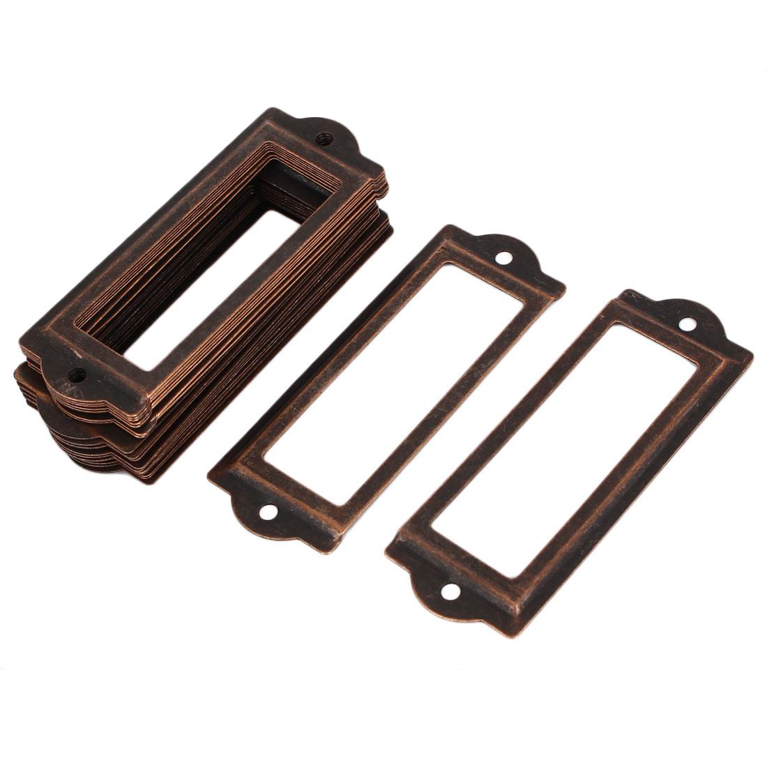 Office Drawer Cabinet Metal Label Pull Holder Frame 20pcs