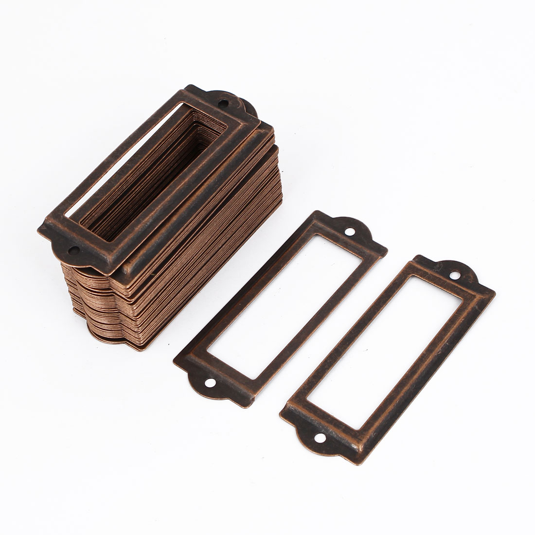 Office Drawer Cabinet 83mmx30mm Antique Style Label Pull Holder Frame 50pcs