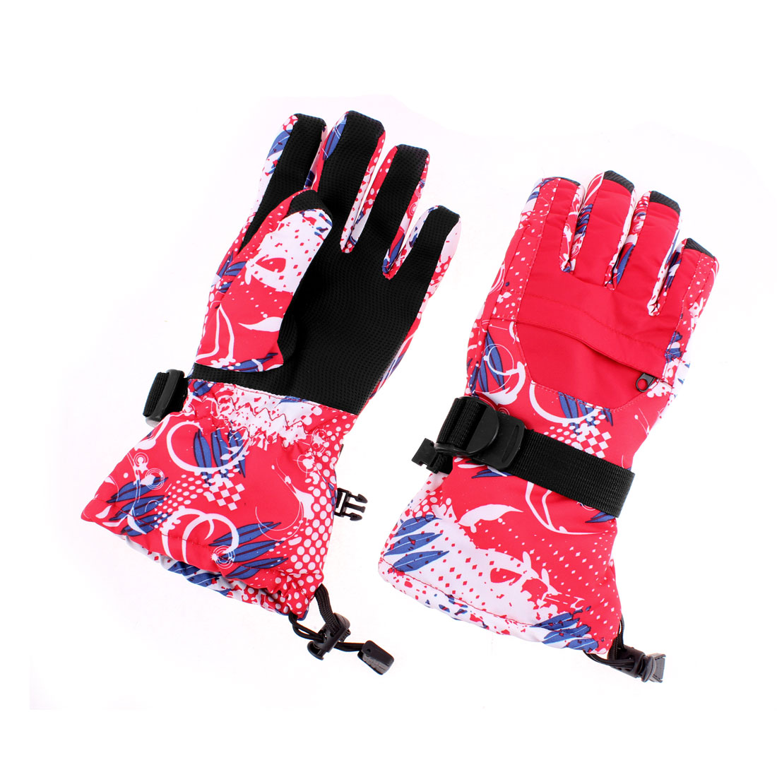 Men Winter Outdoor Snow Ski Snowboard Full Finger Gloves Red XL Pair