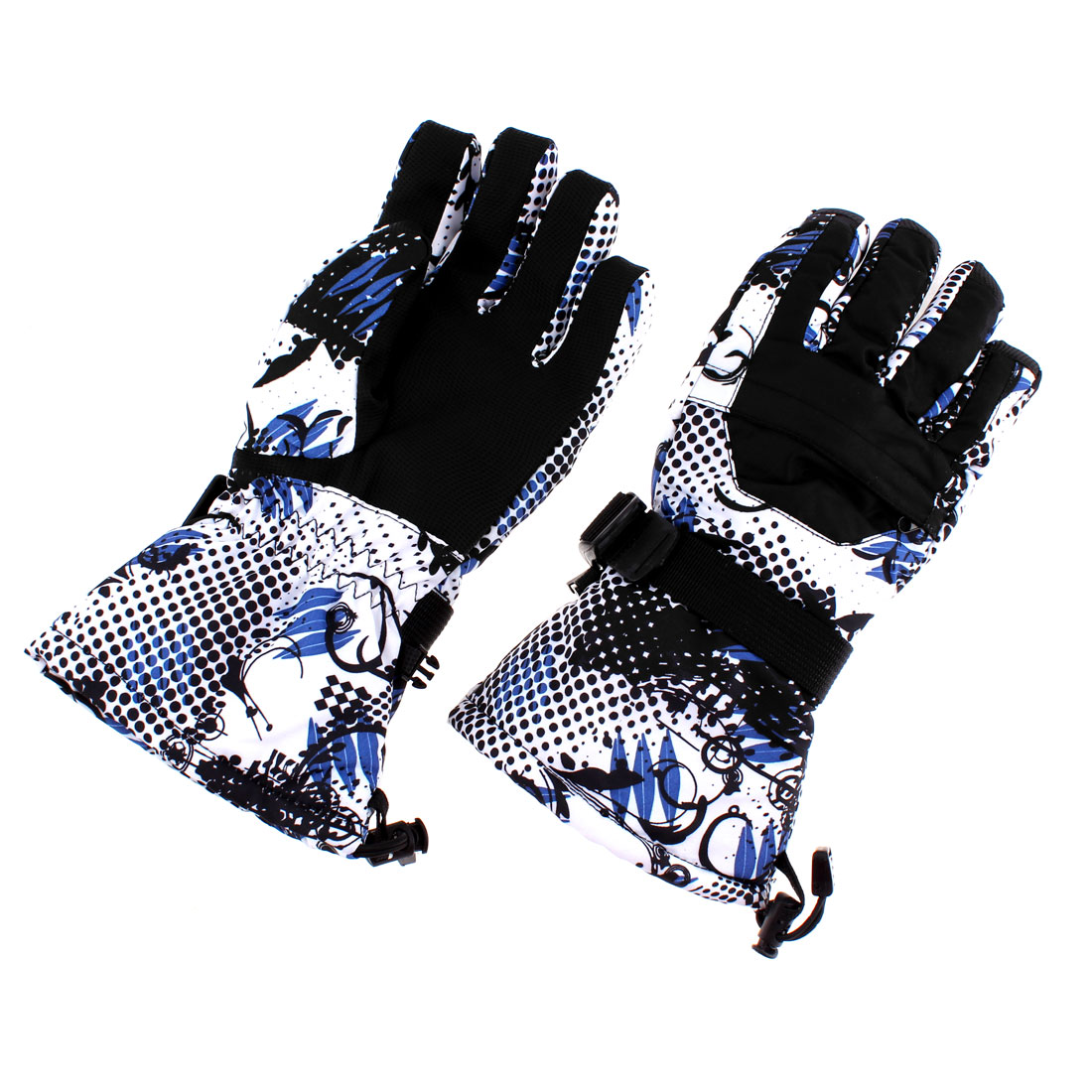 Ski Skiing Snow Snowboarding Gloves Black M Pair for Women