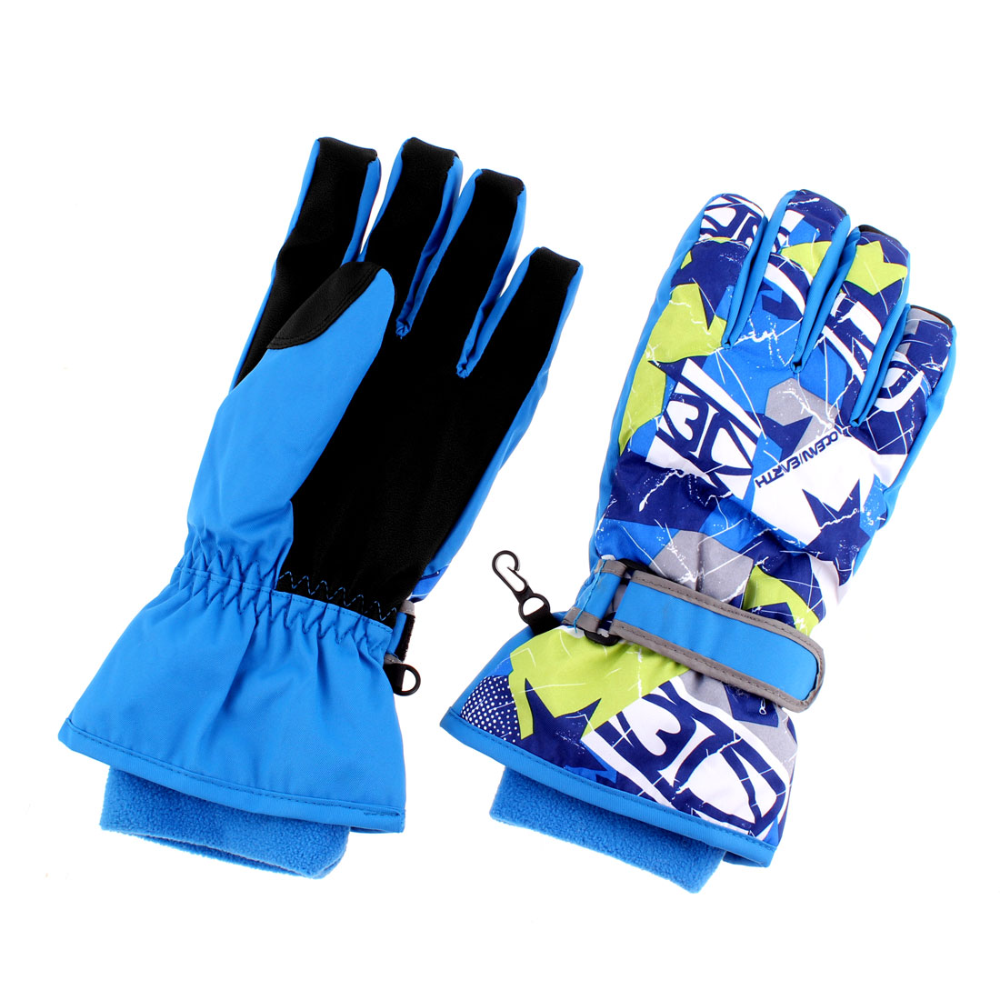 Adults Winter Ski Snowboarding Gloves Blue L Pair