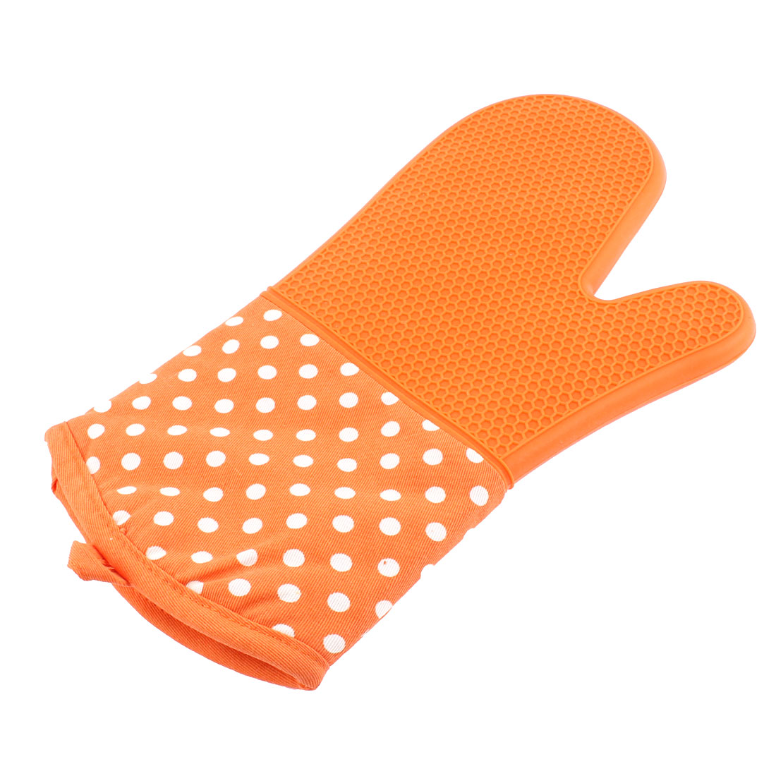 Microwave Oven Baking Dots Pattern Heat Resistance Glove Orange
