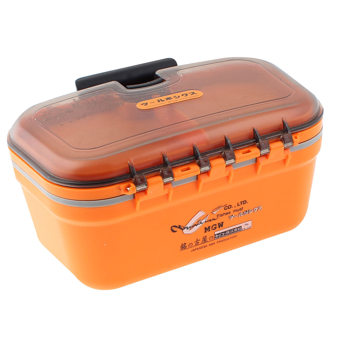 Home Family Save Room 2 Layers 4 Compartments Storage Case Box Container Orange