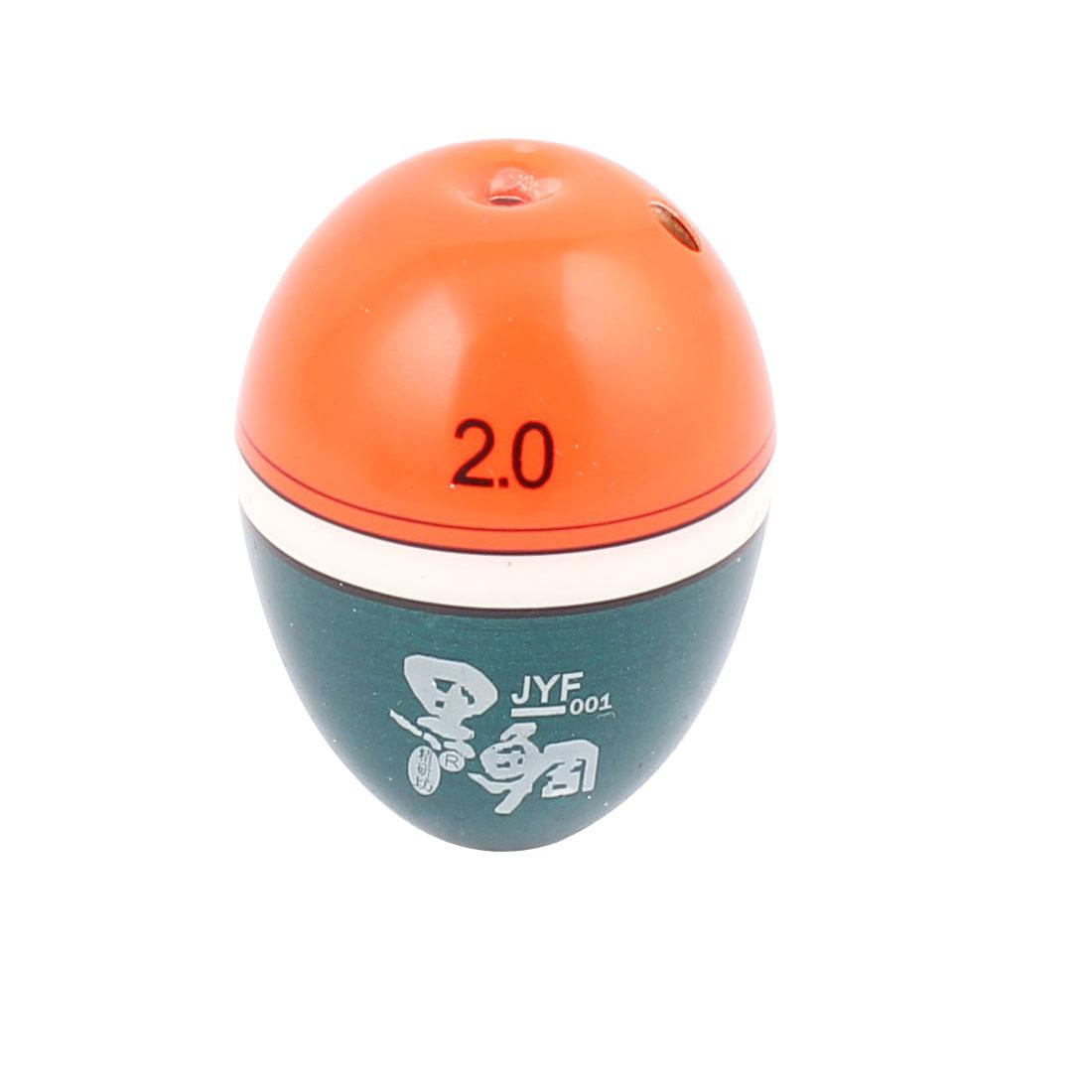 """1.2"""" x 1.6"""" Orange Dark Green Plastic Oval Floating Floats Bobber for Fishing"""