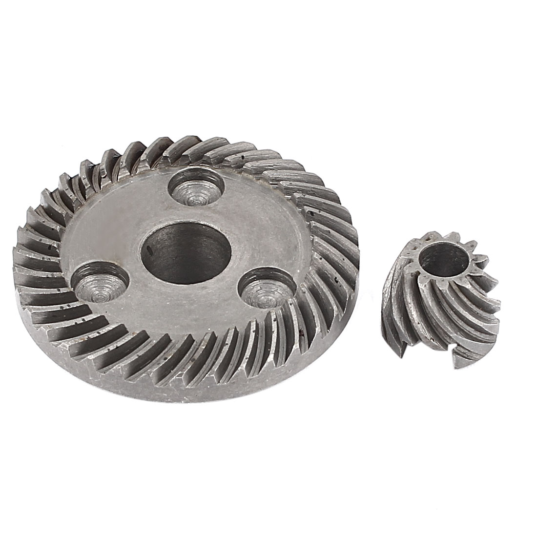 Replacement Metal Electric Angle Grinder Spiral Bevel Pinion Gear Set Dark Gray