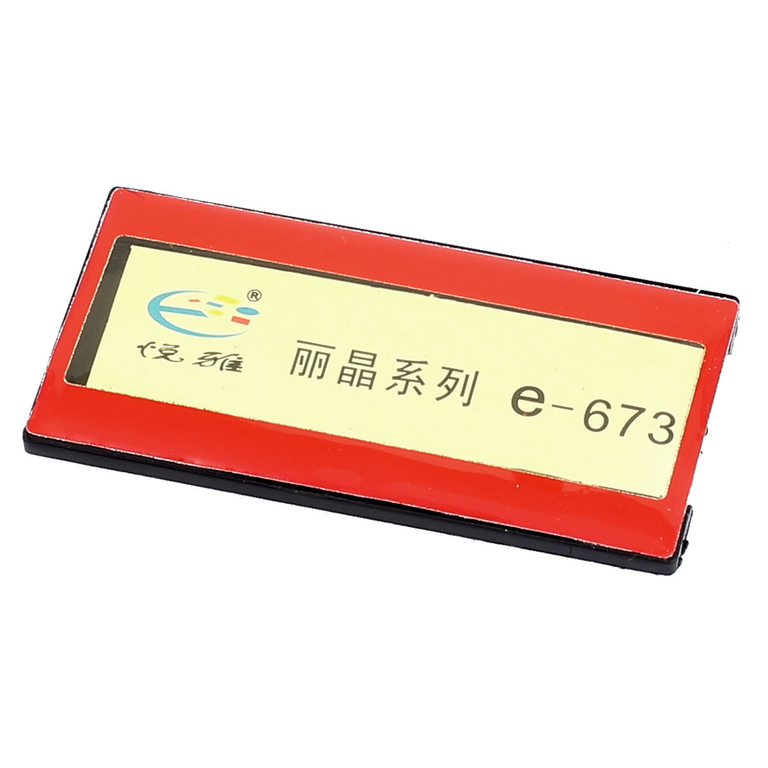Red Plastic Horizontal Business Name Tag Clip Safetypin Holder