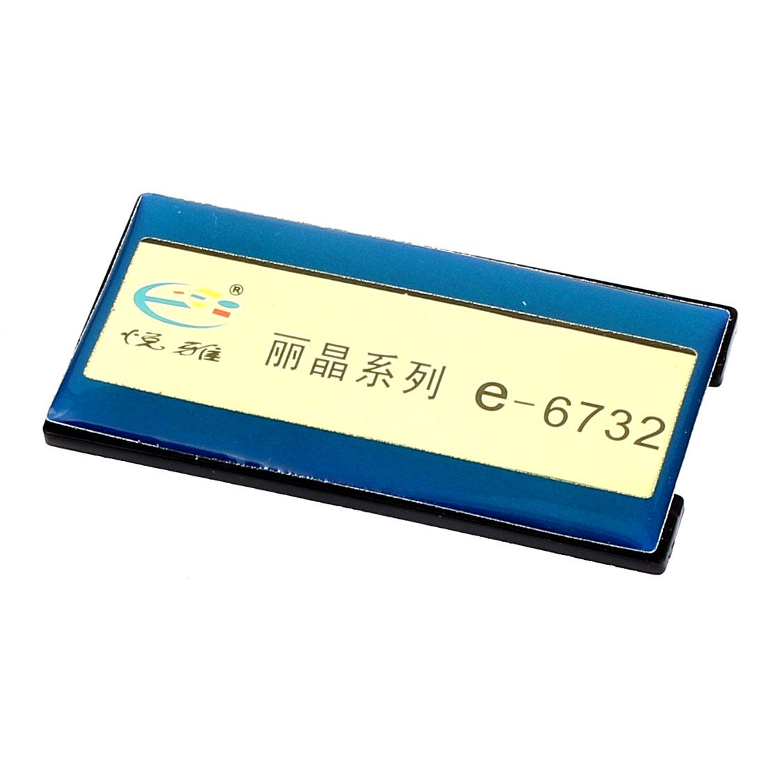 Blue Plastic Horizontal Business Name Tag Clip Safetypin Holder