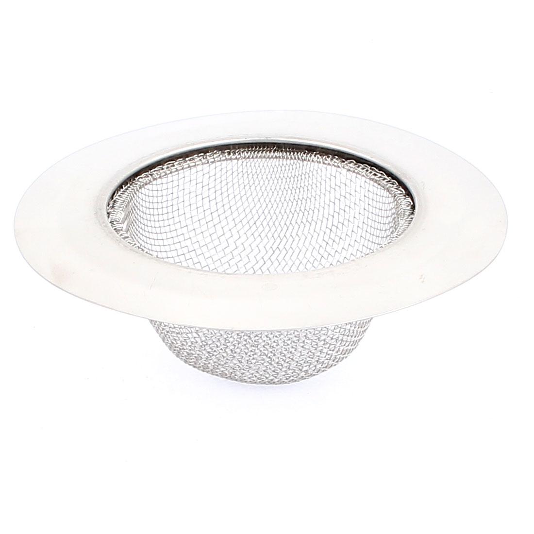 Stainless Steel Kitchen Bathtub Basin Waste Strainer Filter Drain Hair Blocker 4.5 Inch Dia
