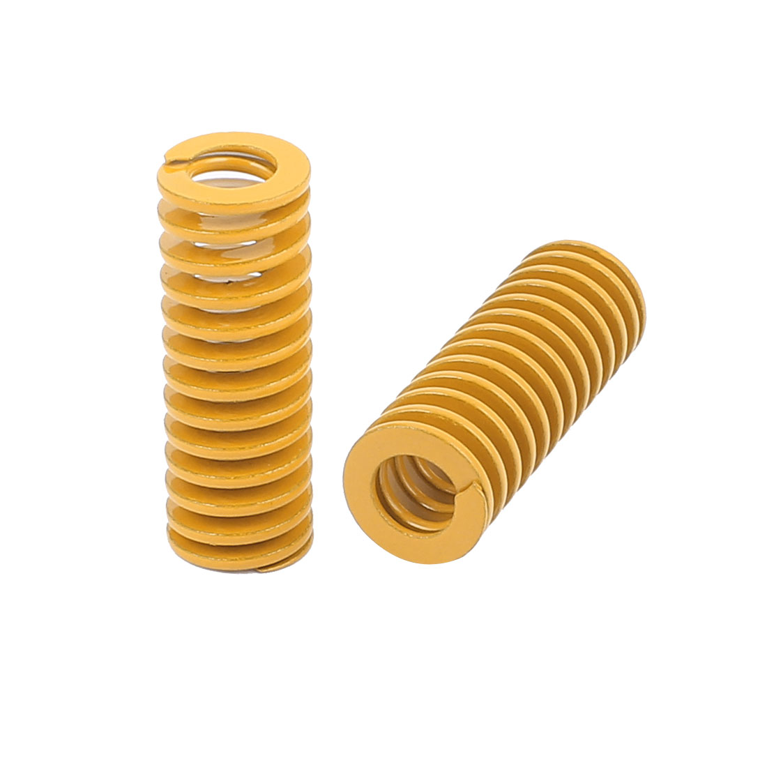 20mm OD 55mm Long Light Load Coil Stamping Compression Mold Die Spring Yellow 2 Pcs