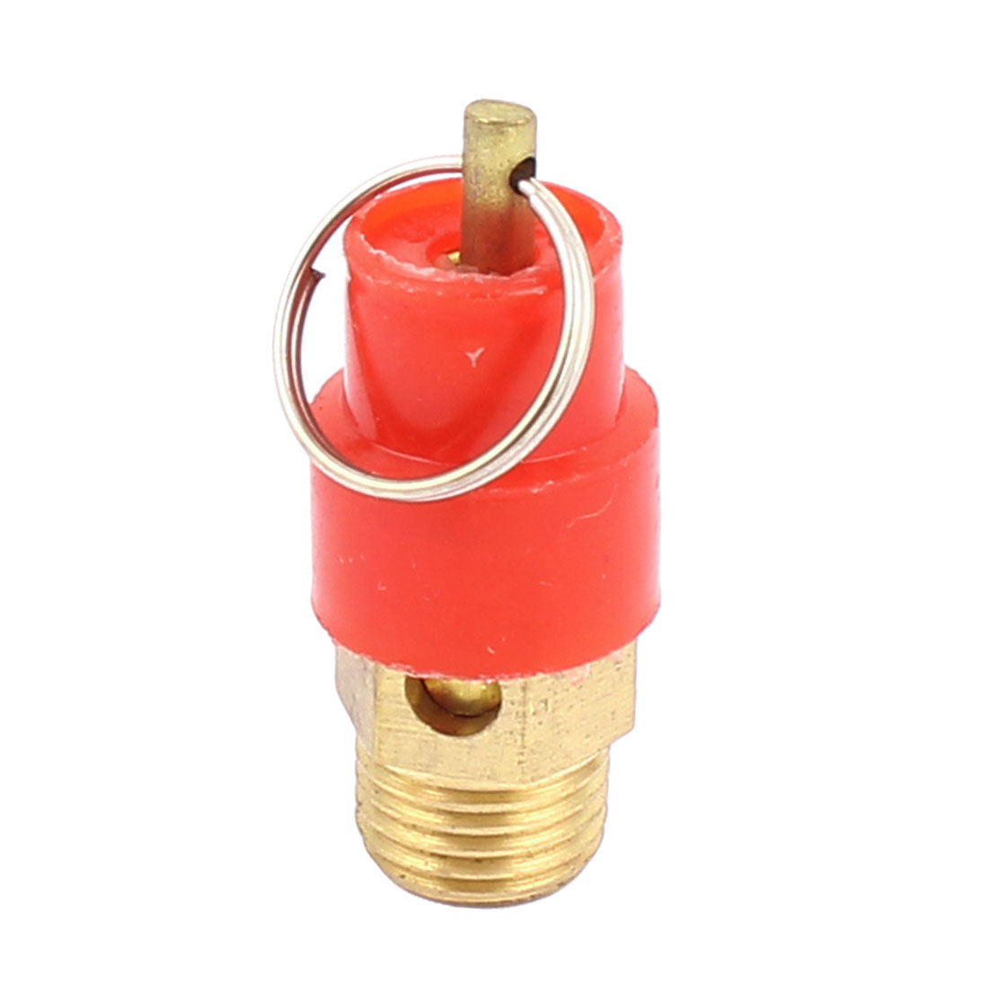 Air Compressor Metal Ring Pressure Relief Safety Valve Release Pneumatic Fitting Control Device 1/4BSP Male Thread