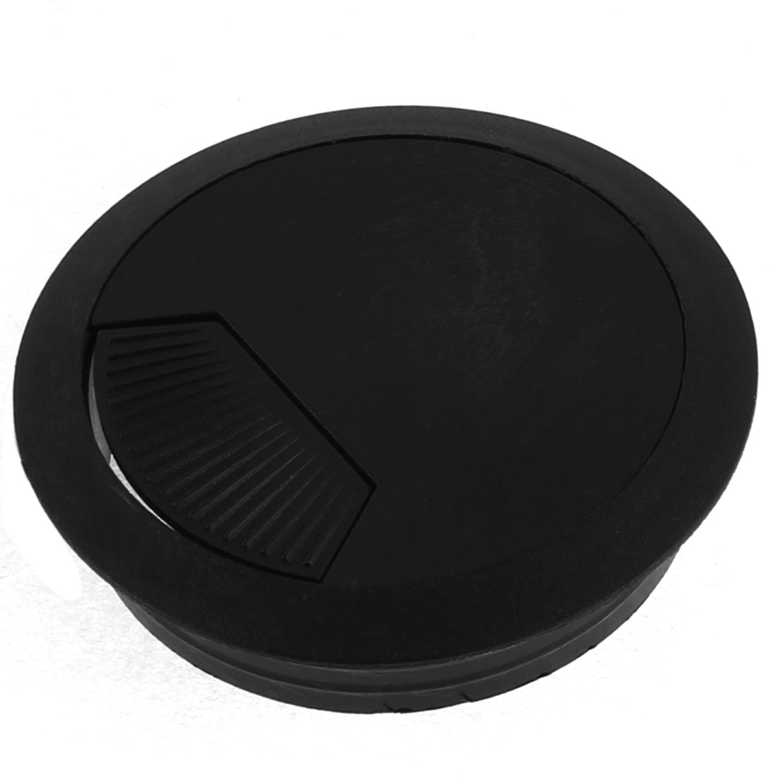 Plastic Grommet PC Computer Wire Cable Hole Cover 60mm Bottom Dia Black