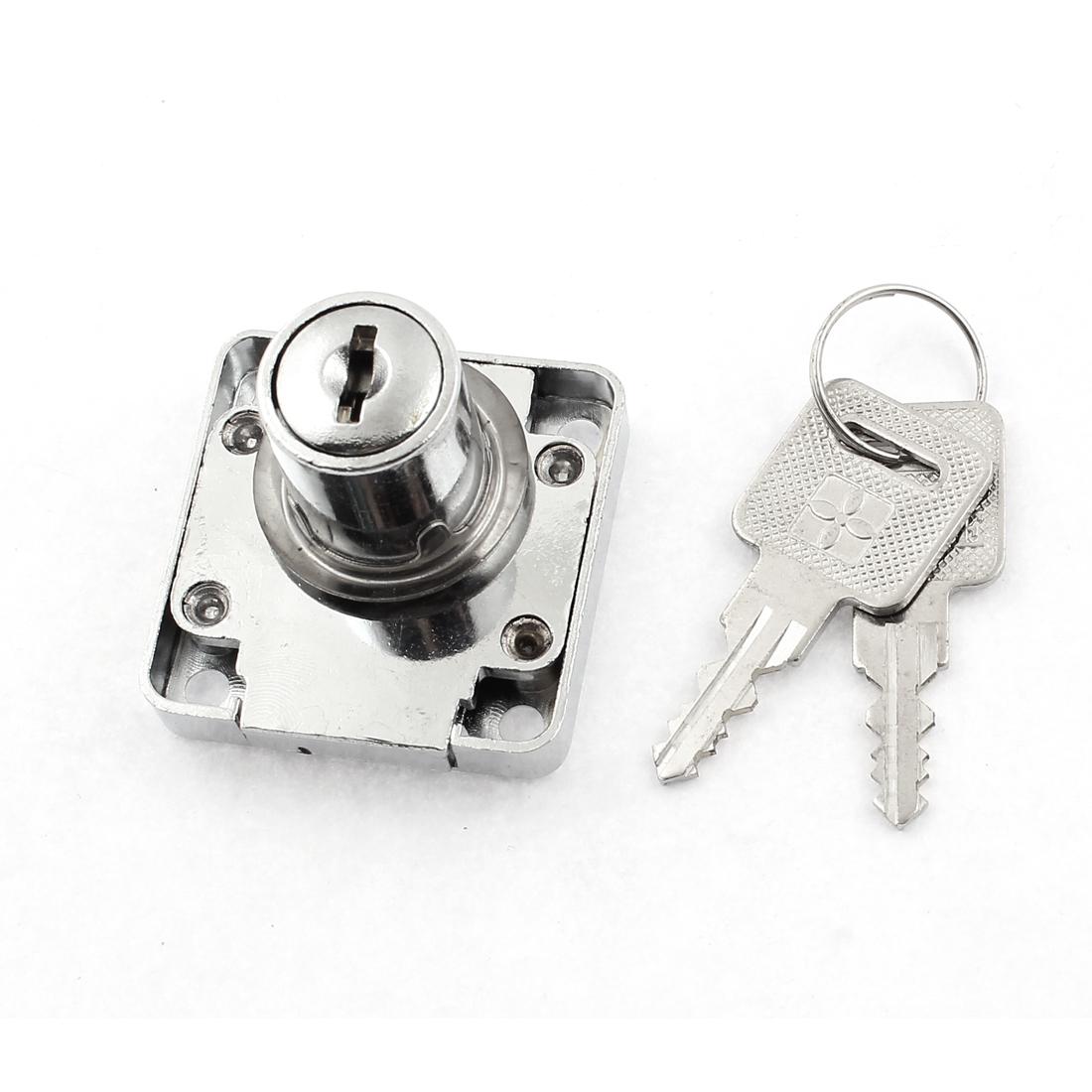 19mm x 22mm Wardrobe Cabinet Mailbox Drawer Safety Tubular Cylinder Lock w 2 Keys