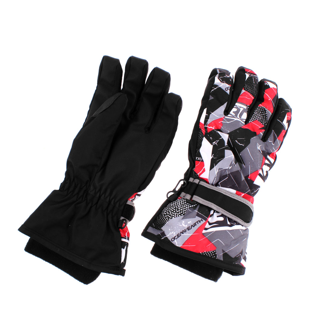 Adults Winter Sports Outdoors Skiing Snowboard Ski Gloves Black L Pair