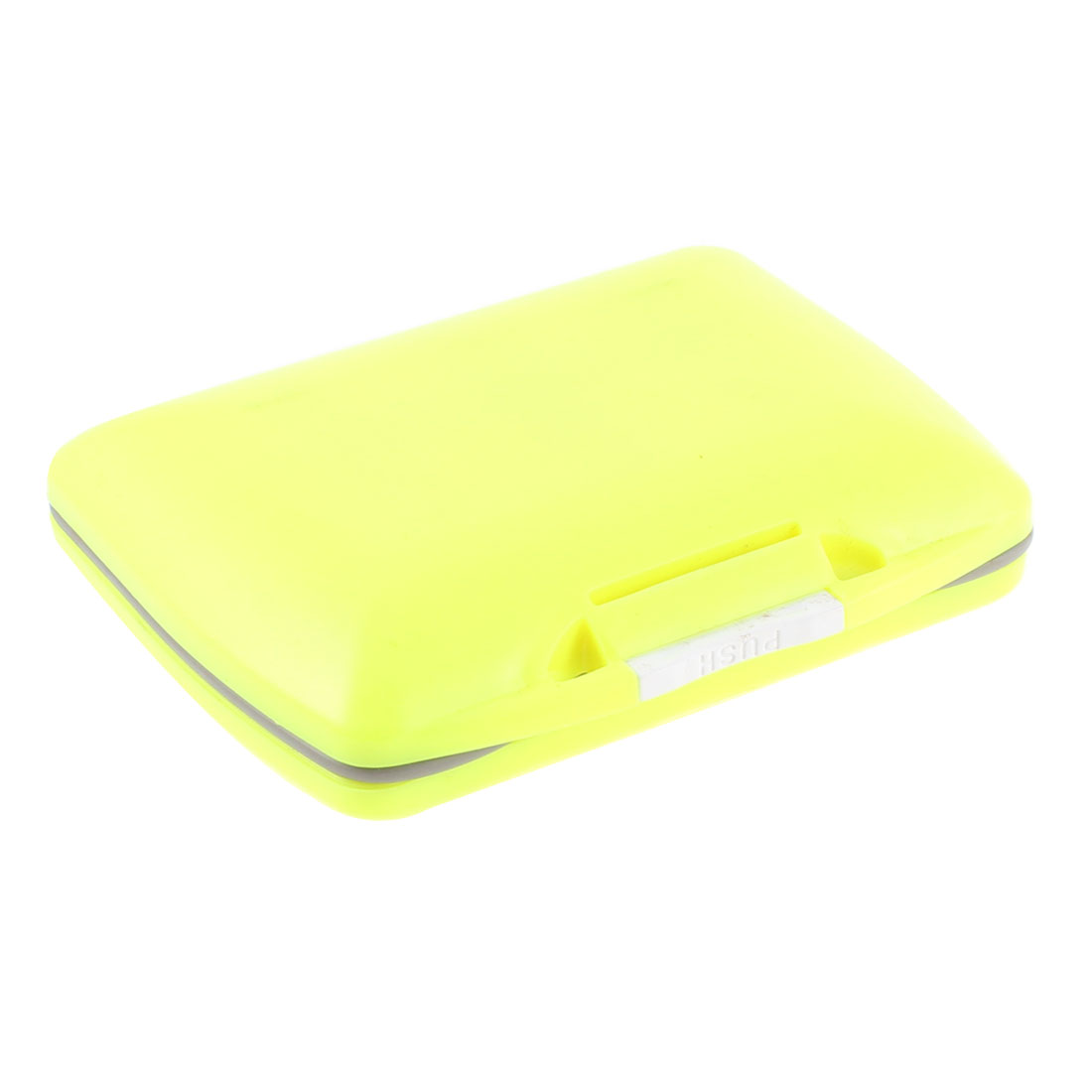 Plastic Case 15 Compartments Fishing Hooks Holder Box Organizer Yellow