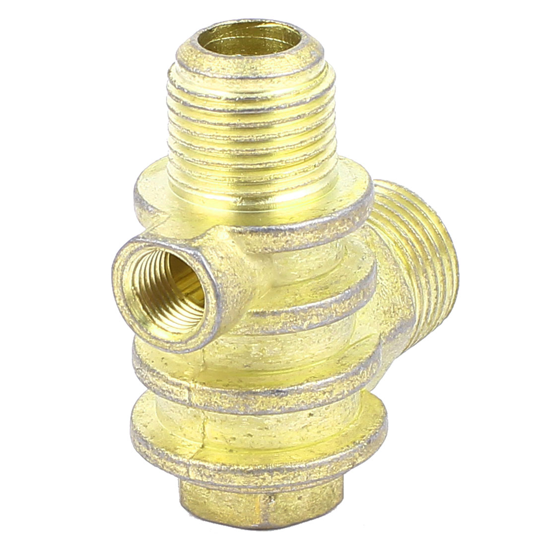9mm Diameter Female Thread Brass Tone Metal Air Compressor Check Valve Connector