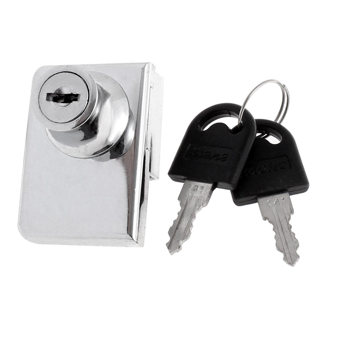 Display Cupboard Cabinet Glass Door Toolbox Safe Drawer Lock w 2 Keys