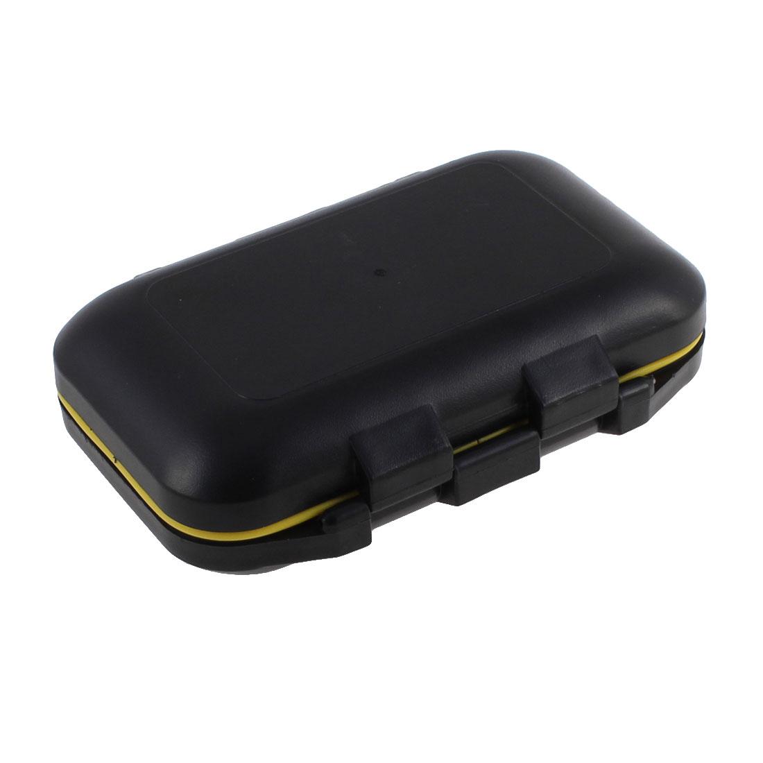 Plastic 12 Compartments Fishing Hooks Holder Case Box Organizer Black