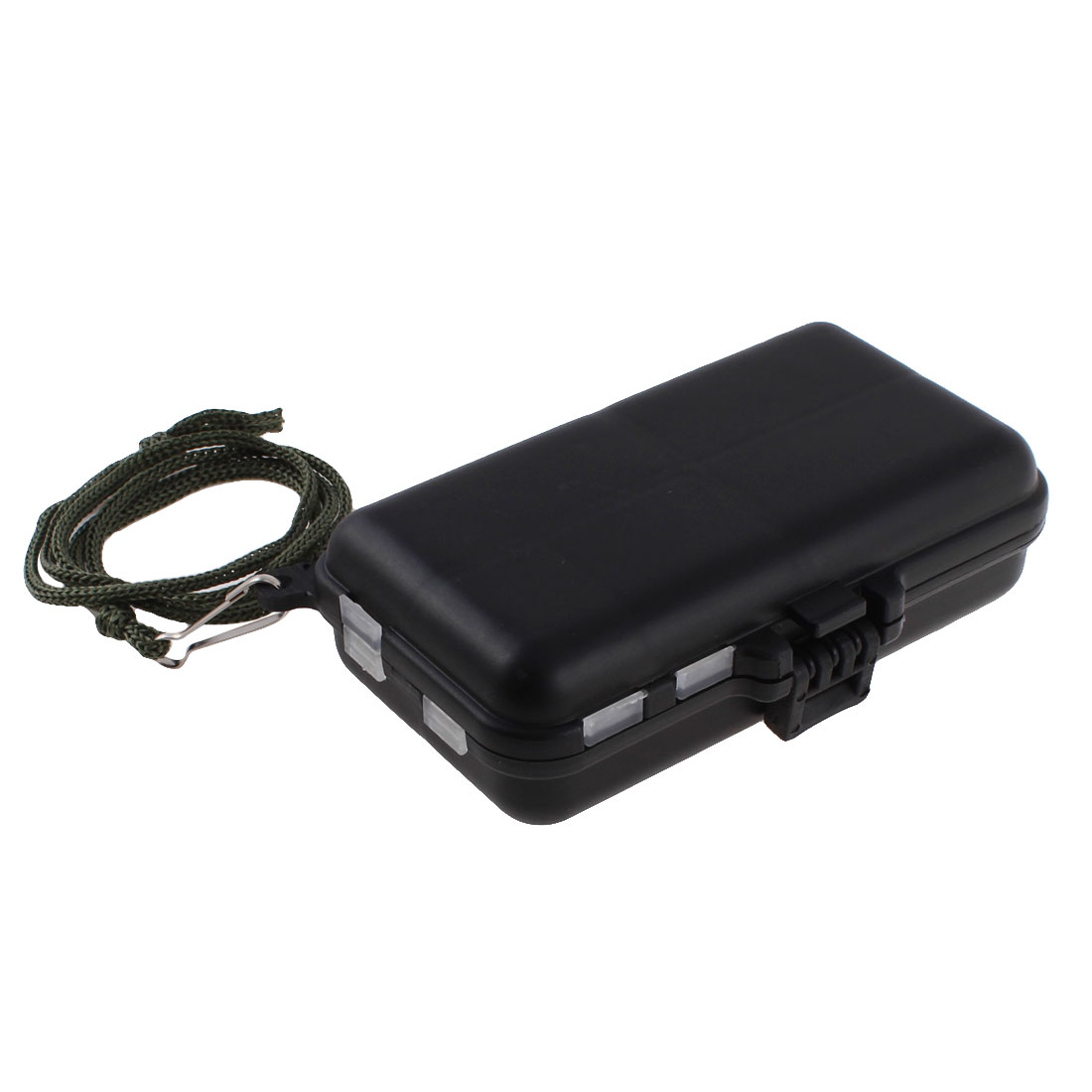 Plastic Case 9 Compartments Fishing Hooks Holder Box Organizer Black