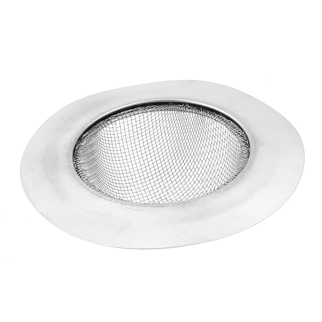 Bathroom Kitchenware Drain Sink Strainer Garbage Stopper Basket Filter Silver Tone