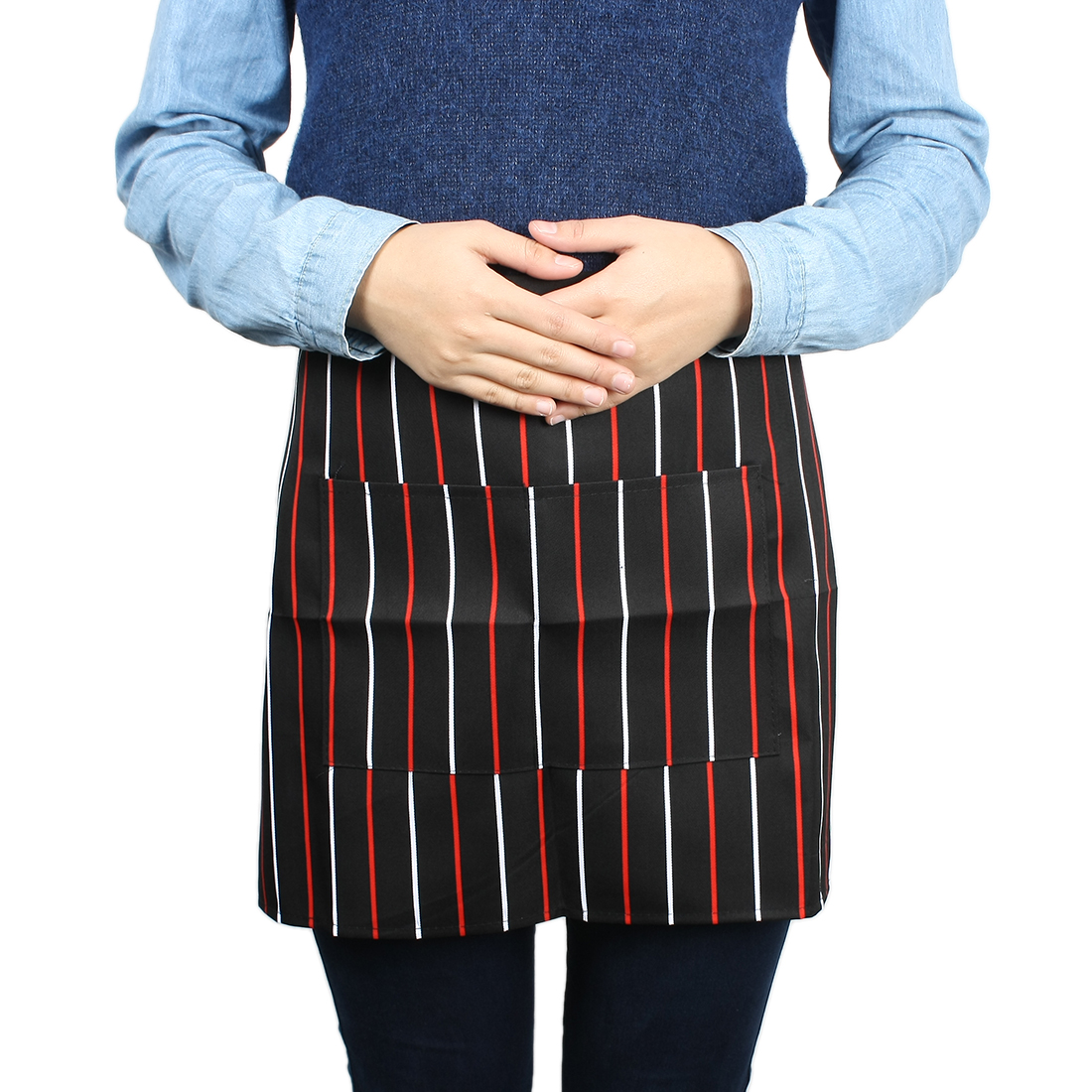 Restaurant Cantten Kitchen Waiters Stripe Pattern Apron