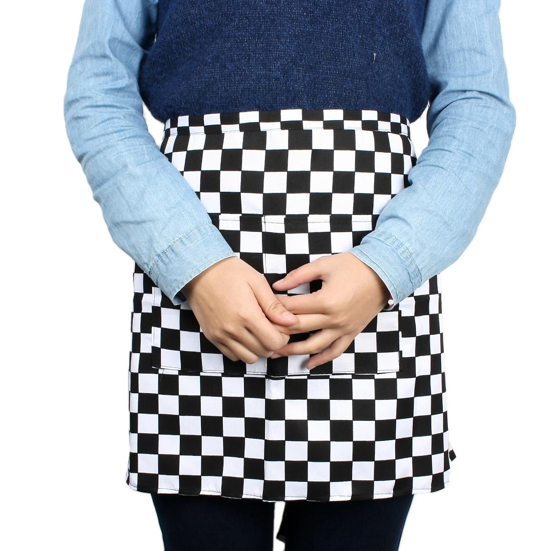 Restaurant Kitchen Hotel Canteen Waiters Grids Pattern Apron
