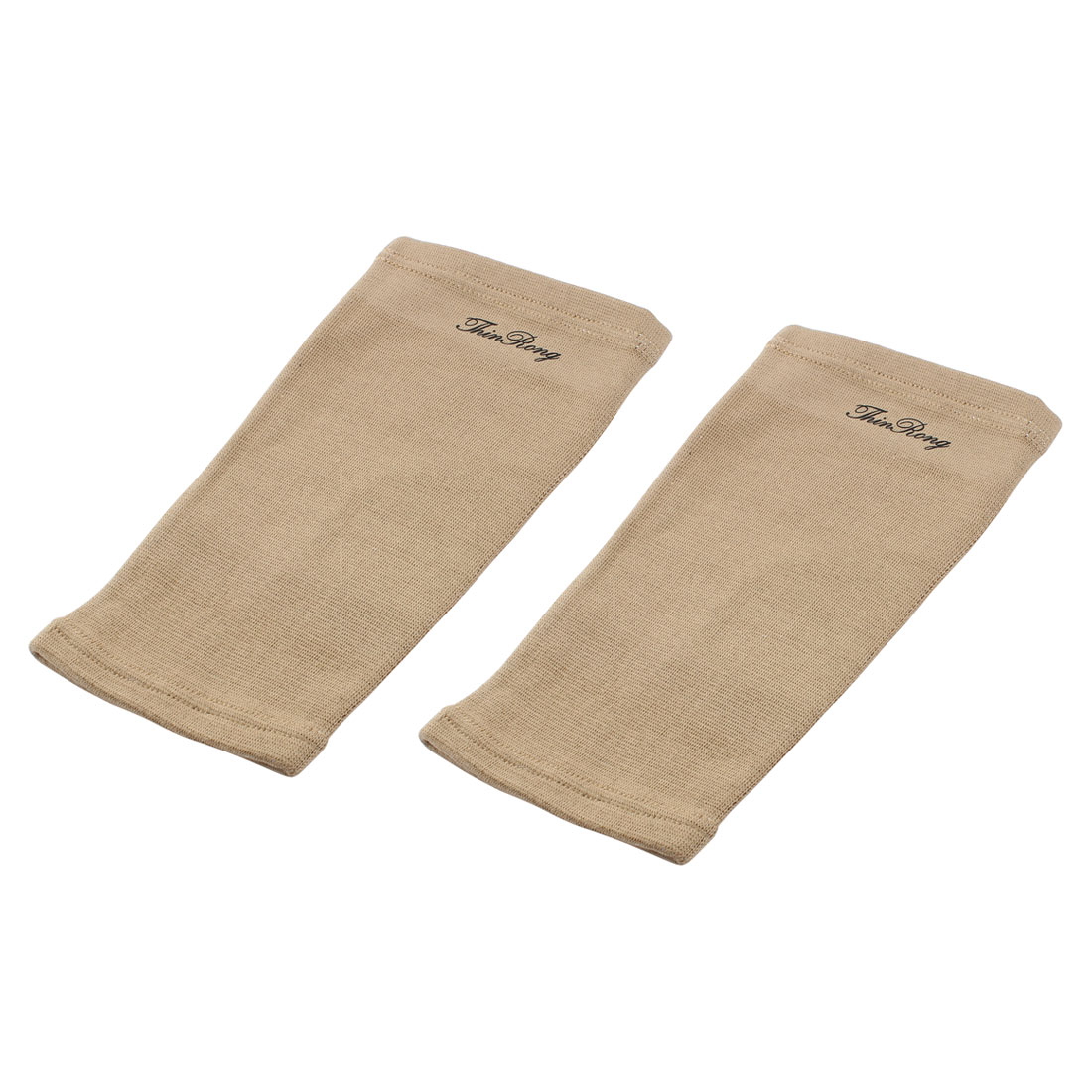 Sport Exercise Elastic Brace Knee Support Pad Guard Protector Bandage Khaki Pair