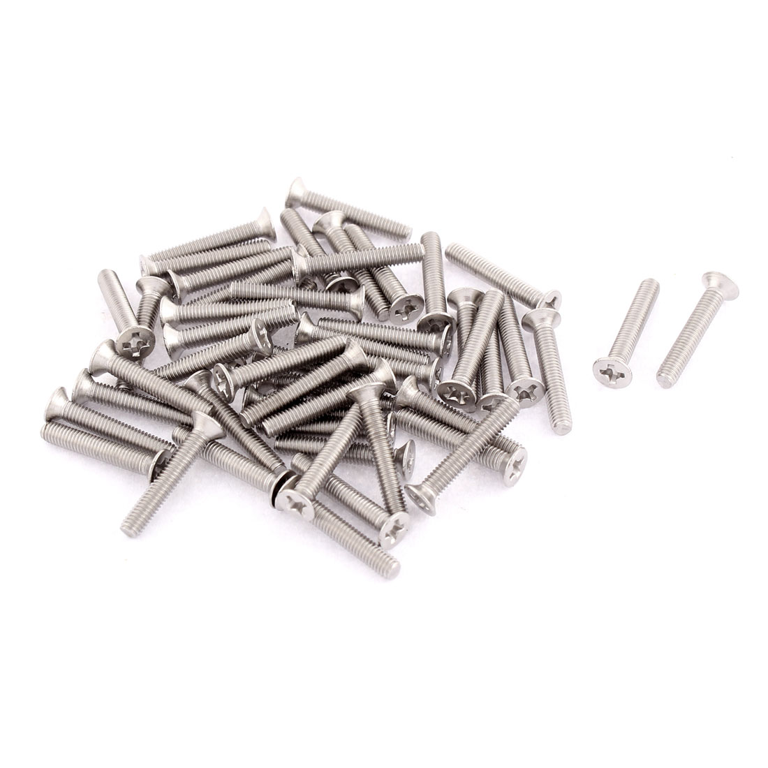 M3 x 18mm Phillips Head Stainless Steel Countersunk Bolts Machine Screws 50pcs