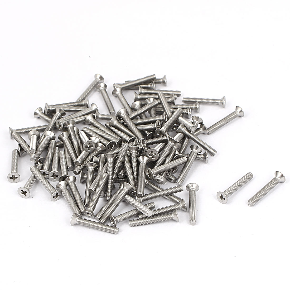M2.5x16mm Stainless Steel Phillips Flat Countersunk Head Screws 100pcs