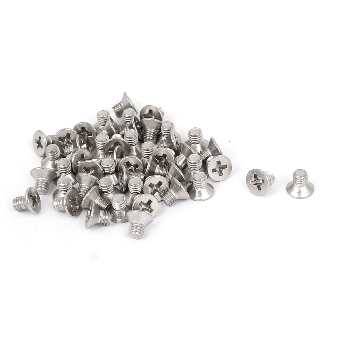 M4x6mm Stainless Steel Phillips Flat Countersunk Head Screws 50pcs