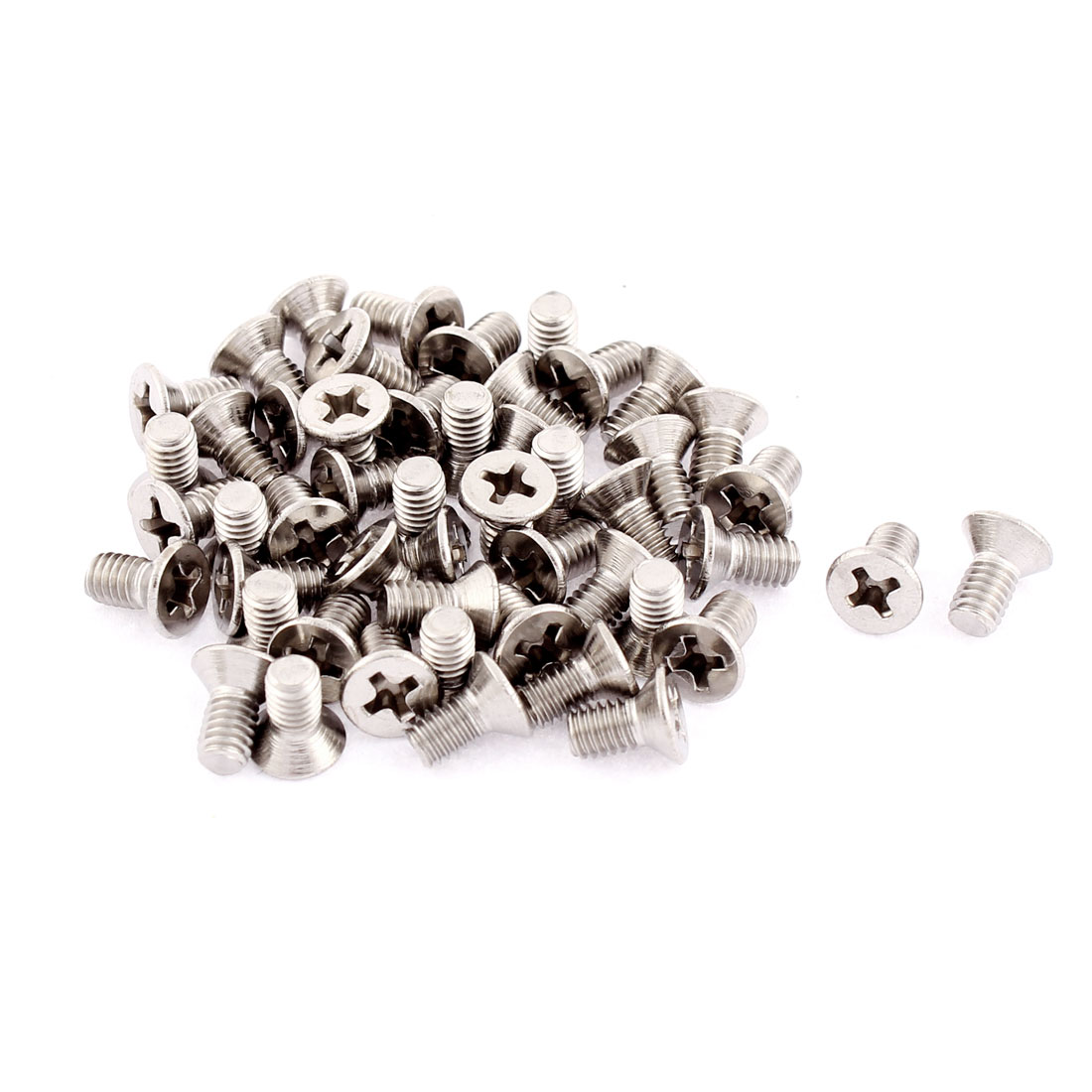 M4 x 8mm Phillips Flat Head Stainless Steel Countersunk Bolts Screws 50pcs