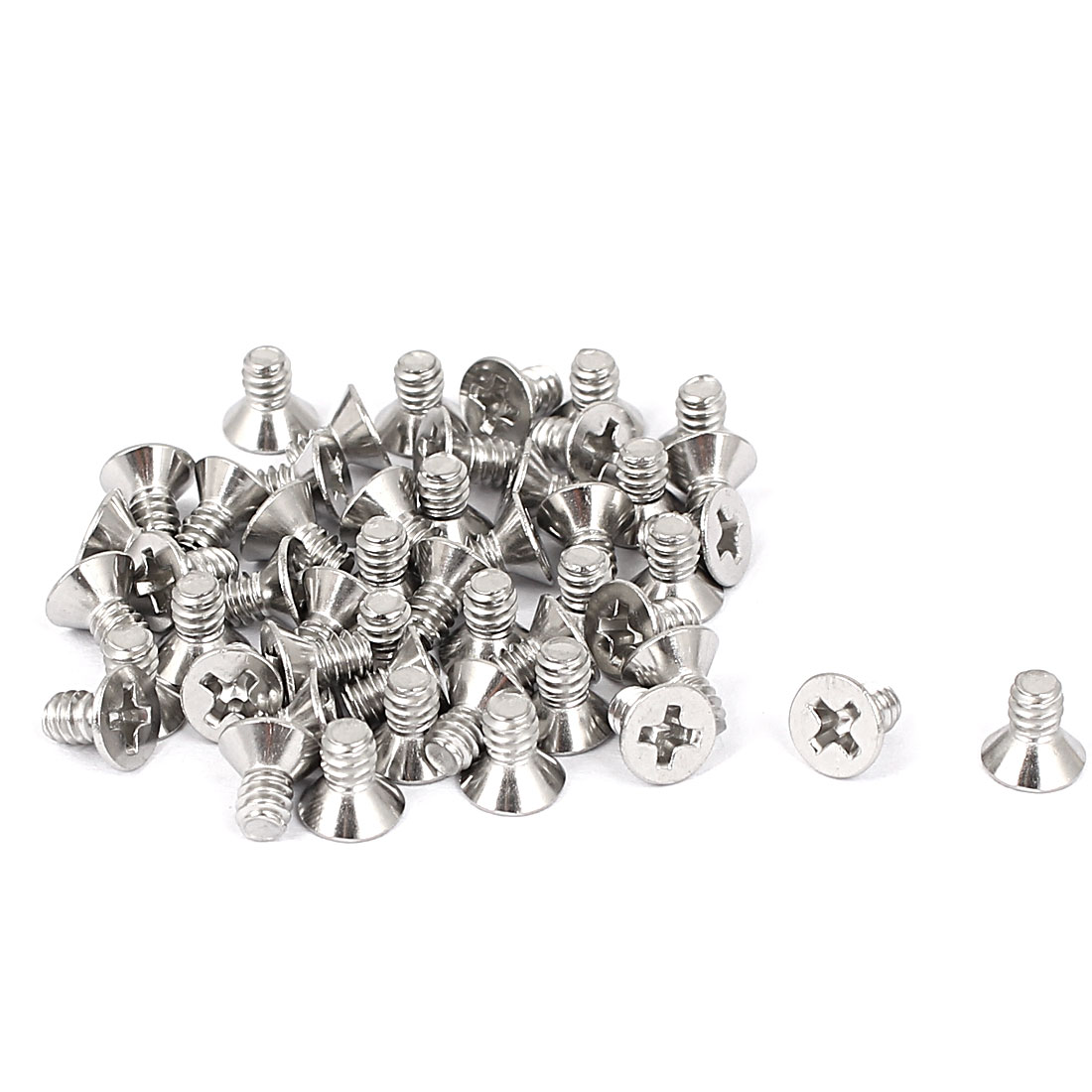 "6#-32x1/4"" Stainless Steel Phillips Flat Countersunk Head Screws 50pcs"