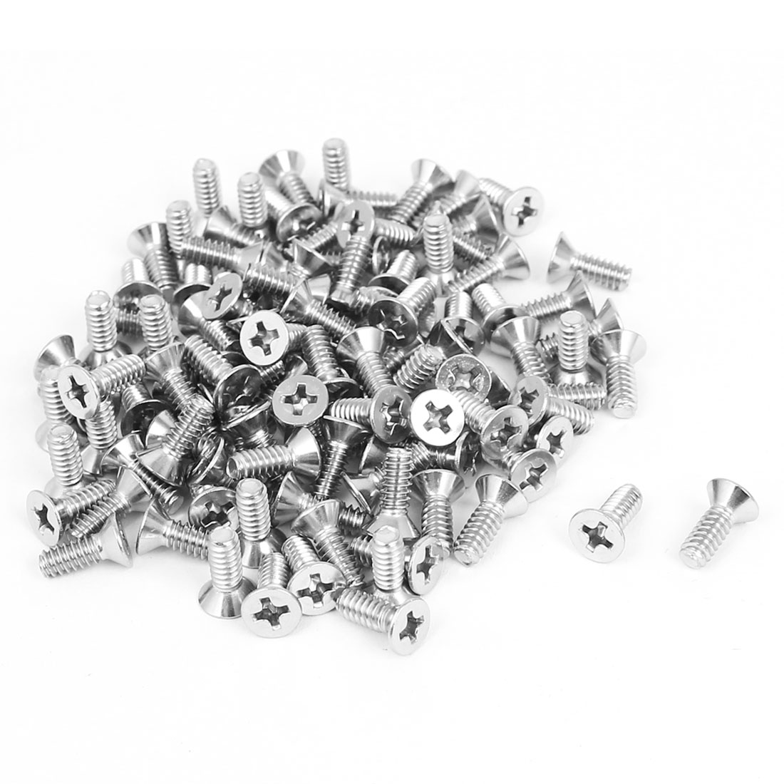 "6#-32x3/8"" Phillips Flat Countersunk Head Machine Screws 100pcs"