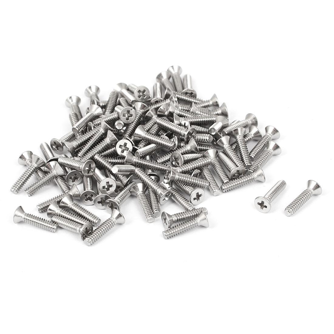 "4#-40x1/2"" Stainless Steel Phillips Flat Countersunk Head Machine Screws 100pcs"