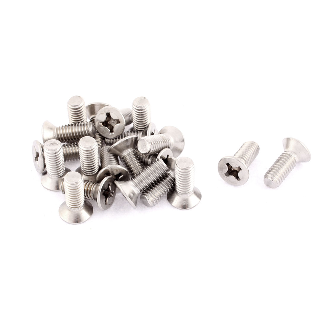 M6 x 16mm Phillips Flat Head Stainless Steel Countersunk Bolts Screws 20pcs