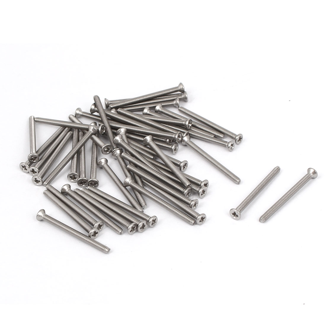 M2x25mm Stainless Steel Phillips Flat Countersunk Head Screws 50pcs